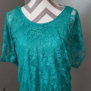 by & by Tops - By & By Lacy Blouse